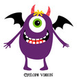 funny monster print for t-shirt design vector image vector image