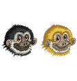 Gibbon faces vector image vector image