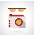 Glasses and camera flat color design icon vector image vector image