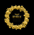 golden floral wreath vector image vector image