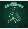 Green card for St Patricks Day with hat vector image vector image