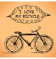 hand-drawn bicycle on grungy background vector image