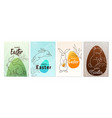 happy easter greeting poster set background line vector image vector image