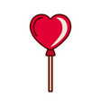 heart shaped balloon isolated icon vector image vector image