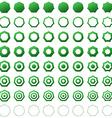 Heptagon shape polygon icon template set vector image vector image