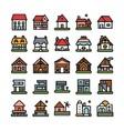 house unique icon logo vector image vector image
