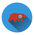 Icon of bear silhouette with target vector image vector image