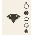 Jewelry and luxury Icon set vector image vector image