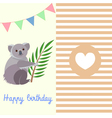 Koala birthday vector image