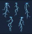 lightnings and thunder bolts thunderstorm vector image