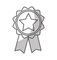 line emblem with star inside and ribbon design vector image vector image