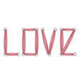 love t-shirt fashion print on white background vector image
