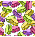 macaroon seamless pattern sweet french macaron vector image vector image