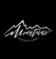 mountains logo logotype template hand drawn vector image vector image