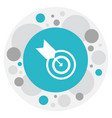 Of science symbol on goal icon vector image