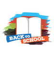 open book back to school concept image vector image