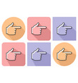 outlined icon of hand with forefinger pointing vector image