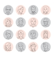 People avatar set thin line vector image vector image