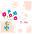 plasticine flowers vector image vector image