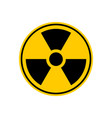 radiation danger sign caution chemical hazards vector image