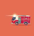 red fire engine emergency rescue truck vector image