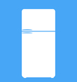 Refrigerator icon isolated on the blue background vector image vector image