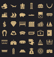 riches icons set simple style vector image vector image