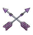 rustic arrows with ornamental design vector image vector image