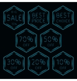 Sale signs set of lights vector image