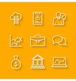 Set of line icons of business people organization vector image vector image