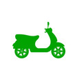 silhouette of scooter in green design vector image