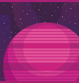 space planets design vector image