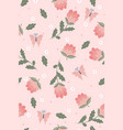 spring seamless pattern with flowers vector image