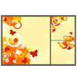 Square abstract backgrounds vector image vector image