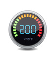 Temperature gauge used in cooking grill with the vector image vector image