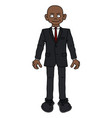 the afroamerican man in a black snit vector image vector image