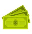 Three dollar bills icon flat style vector image vector image