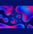trendy fluid shapes composition colorful blue and vector image vector image