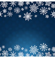 winter card with snowflakes on blue background vector image vector image