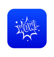 wow explosion effect icon digital blue vector image vector image
