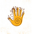hand print design element vector image