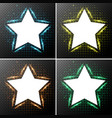 star frames with light in background vector image