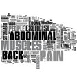 abdominal exercise text word cloud concept vector image vector image