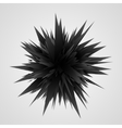 Abstract Geometric Background Black Explosion vector image vector image
