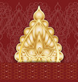 abstract greeting card in oriental style vector image vector image