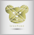 abstract logo with mouse head modern style vector image