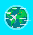 aircraft flying around world vector image vector image