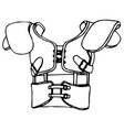 american football body protection vector image vector image