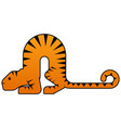 arc tiger colored vector image vector image