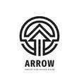 arrow concept logo design development business vector image vector image